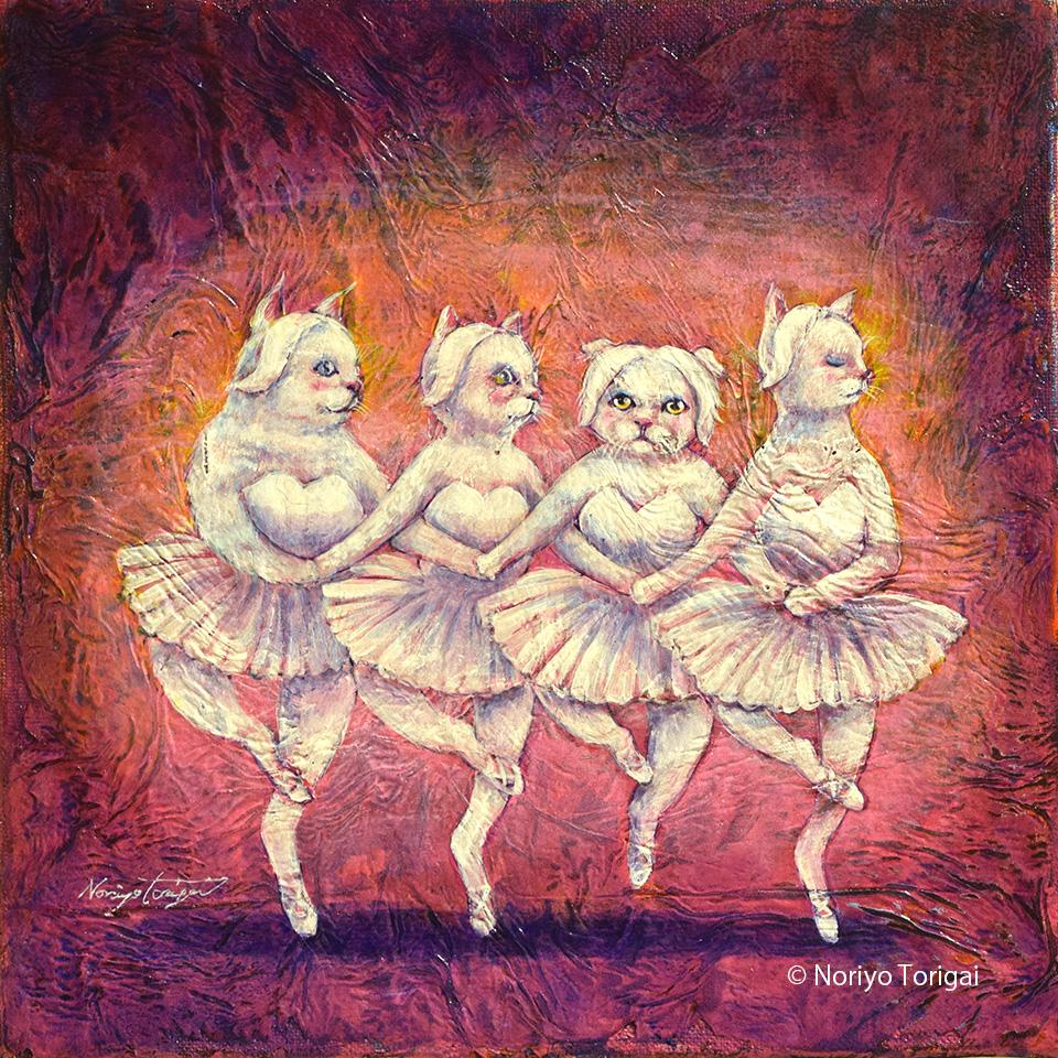 4匹の白猫